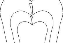 dibujo frutas