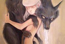 wolf and rabbit / Ilustraciones que me recuerdan