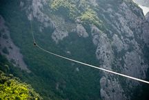 Zipline in Croatia / Zipline is an aerial runway created by stretching a cable (steel!) between two fixed points. The zip line must be sloped enough to allow gravity alone to propel riders along the length of the cable. The zip lines constructed by eco-tour companies (like ours) are usually built high above scenic areas.