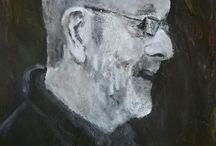 Project de klas van Angenelle / portretten van alle cursisten van klas 114 van Angenelle met inspiratie uit hun eigen werk