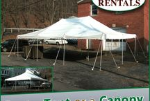 Tents & Canopies / Ark Rentals can rent you almost any size tent for you get together! 15' x 15' - 20' x 20' - 20' x 30' - 20' x 40' - 30' x 30' - 30' x 45' - 30' x 60' -  40' x 40' -  40' x 60' - 40' x 80' - 40' x 100' 40' x 120' Call: 570-366-1071 for Prices & Details! Email: Info@arkrentals.com
