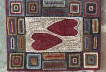 Hearts on Hooked Rugs!