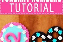 FONDANT NUMBERS DECOR