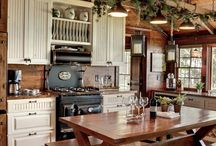 cabin kitchens / ideas for cabin kitchens