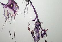 cavalos/ gatos (desenhos)