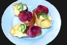 Chlebíčky, kanapky, obl. žemle,saláty, pomazánky