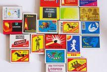 Vintage Matchstick Boxes and Labels / Some collectible vintage Match Boxes and Labels. Find some vintage match boxes for your collection on Etsy Shop: https://www.etsy.com/shop/MatchHouse?ref=l2-shopheader-name
