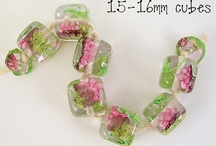 lampwork glass beads and fused glass