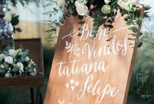 Placa casamento