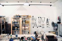 Art Studio/Making process / by Bonnie Bastien