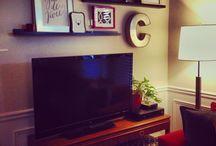 decoration around tv