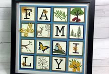 Home Decor for Sale / Handmade and hand stamped Papercraft Home Decor for sale by Lisa Ann Bernard of Queen B Creations from her Esty store and/or Amazon Handmade store.  Made from high quality Stampin' Up! supplies.