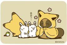 Mascot - Kitsune to Tanuki