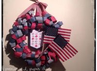 I {heart} the USA! / Ideas for Memorial Day, 4th of July, and Veteran's Day.