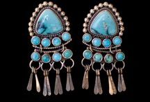 Native American Turquoise Earrings / Both Navajo as well as Zuni American Indians of the Southwest make Turquoise Earrings. They have been a staple of the Native American Turquoise Jewelry market since its inception of 1865.