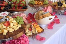 Cheese and fruits display