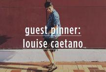 Guest pinner / Nossa primeira pinadora convidada é a Louise Caetano, uma das top pinadoras de moda do Brasil, segundo a jornalista de moda Lilian Pacce. Veja um pouco do seu olhar através do nosso perfil!