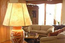 AD Iron: Rawhide Shades / Hand-made using traditional, old world craftsmanship from carefully selected, sun-dried hides skillfully treated to maintain consistent color and texture. Hand-sewn with the same natural leather, these lamp shades are noted for their high quality finish. Our artisans cut and lace each piece to the sturdy frame to make each Rawhide lamp shade a work of art.