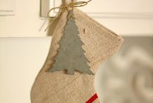 Linen Christmas Stockings