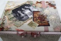 My crafts / Caixas, bandejas e outras peças artesanais.