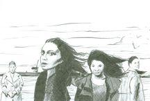 skizze portrait / skizzen auf papier