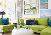 Our Apple Green Sofa/decor