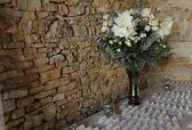 D1J - Mariage d'hiver - décoration hiver / flocons / or-argent / chardons / Un beau mariage d'hiver au Domaine de Bellevue de Anse