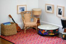 Music Corner / Ideas for a family music corner, as well as some musical ideas to try when you've got it set up!