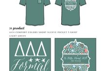 Formals / Greek sorority and fraternity custom shirt designs featuring formal themes. For more information on screen printing or to get a proof for your next shirt order, visit www.jcgapparel.com