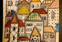 Whimsical houses and towns