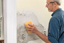 DIY a wall plastering