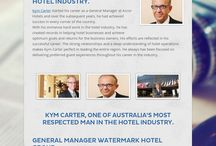 Kym Carter / Successful business man in hotel industry Kym Carter.His goals convert his today for a successful and bright day.