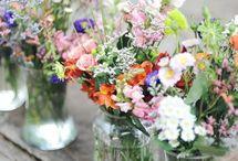 Flowers in the bottles & jars / Inspiration