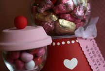 Valentine's day candy machine.
