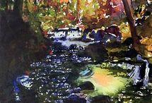 Watercolor,- Art tájkép / természet