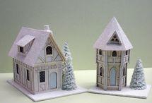 Glitter houses / by Bev Crocker