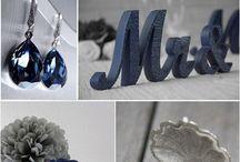 Свадьба сине серебряном