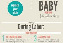 birthing the baby