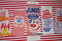 Carnival * Circus *  Concessions *  Clowns  * / I have always loved the carnival/circus party theme....from the classic red & white stripes to the vintage muted naturals and pinks...I love it all!  carnival party, circus party, vintage concession bags, popcorn bags,concession supplies, jilly bean kids  Here are a few of my favorites.  Most are listed at www.jillybeankids.com