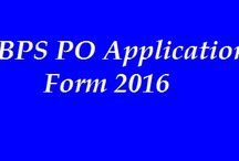 IBPS application forms for PO 2016 / IBPS is now getting application forms from the candidates who want to make their career by getting part in coming PO exam 2016; all the interested applicants should get advantages of these application forms and apply presently. All those candidates who can submit their IBPS PO Application Form 2016 all of them can get part in its exam which is going to be held soon.