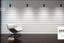 Arstyl Wall Panels STRIPE & SQUARE / 3 dimensional textured wall panels  www.wallpanels.arstyl.com