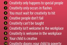 Creativity Quotes / Inspirational quotes all about creativity, artistry, and the journey of creating art.