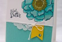 Blended bloom SU /  For all your Stampin Up goodies  - current items available to purchase from http://bagsthatone.stampinup.net/