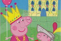 peppa pig puzzles / peppa pigs family and peppa