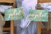 airplane wedding theme