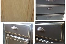 Kitchen cabinet makeover / by Laura McManus