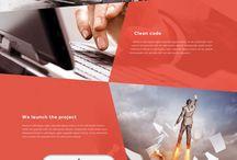 WEB layout / web template design inspiraton