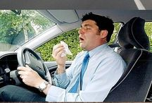 Sneeze attacks while driving.