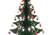 Tabletop Christmas Trees / Buy Unique Wooden Hand Painted  Tabletop Christmas Tree from http://www.BestPysanky.com / by BestPysanky Inc