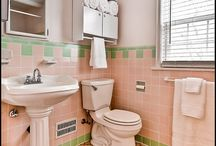 Retro pink bathrooms